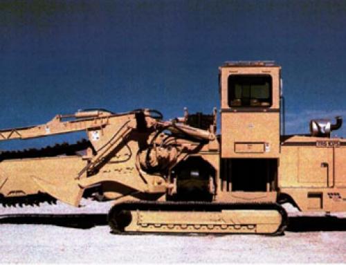 Zanjadora Tesmec TRS 1075 Modelo de cadena y de disco